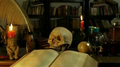 Wizards Study Desk (HD) Stock Footage