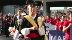 Golden Dragon Parade Stock Footage