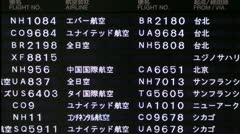 Airport arrivals and departures board Stock Footage