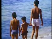 Stock Video Footage of Alexandria, beach, three boys on the beach