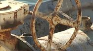 Stock Video Footage of CA Central Valley CA Aquaduct Pumping Wheel to flowimng Water