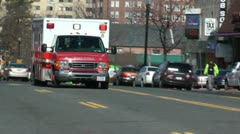 EMS ambulance passing, Washington, DC Stock Footage