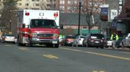 Stock Video Footage of EMS ambulance passing Washington, DC