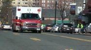 EMS ambulance passing, Washington, DC Stock Footage