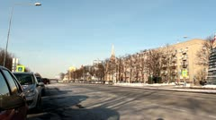 City road at winter time DNxHD Stock Footage