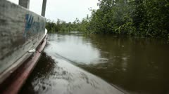 Ship On Amazon River Stock Footage