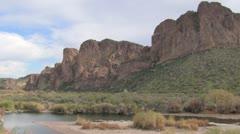 Arizona Bush Highway Stock Footage