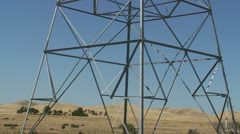 CA Central Valley Hydro Electric Power lines Stock Footage