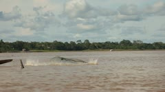 Indios At Amazon River Stock Footage