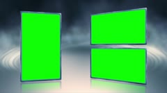 Rising Smoke Triple Boxes Green Screen Background Stock Footage