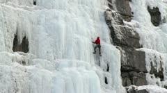 Mies jääkiipeily vuori P HD 8924 Arkistovideo