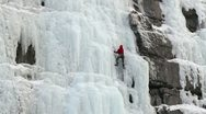 Stock Video Footage of Man ice climbing mountain P HD 8924