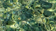 Pebble seabed Stock Footage