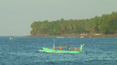 Indonesian fishing boat Stock Footage