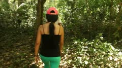 Tourist In Rainforest Stock Footage