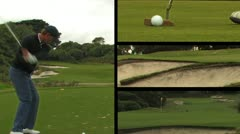 Golf Montage - Putt, Fairway, Drive & Bunker Stock Footage