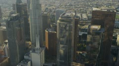 Aerial view of city heat haze, Los Angeles, USA Stock Footage