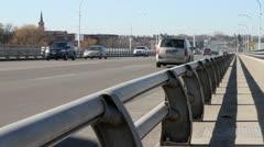 Traffic on Bridge 01 - stock footage