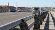 Traffic on Bridge 01 Stock Footage
