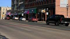 Traffic in Small Town Stock Footage