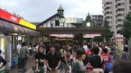 Harajuku Station - Timelapse 1 Stock Footage