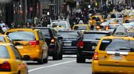 New York City, Manhattan, Fifth Avenue at Rush Hour Stock Footage