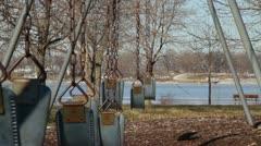 Empty Swingset 04 Stock Footage