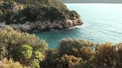 Azure bay top view 3 Stock Footage