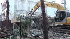 Bulldozer working Stock Footage