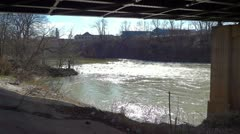 Homeless Camp Under Bridge at Barren River in Bowling Green Stock Footage