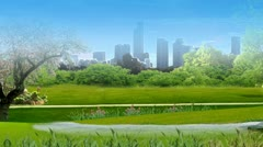 A walk in the Park Stock Footage