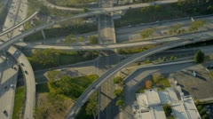 Aerial view of suburban road traffic system, USA Stock Footage