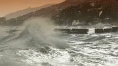 Wave smashing Stock Footage