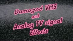 Stock After Effects of Ultimate VHS and Analog TV Effects Package