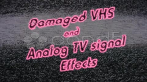 After Effects Project - Pond5 Ultimate VHS and Analog TV Effects Package 10 ...