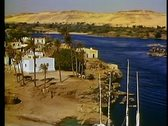 Stock Video Footage of Aswan, Nile River, buildings, wide shot