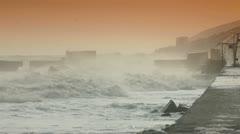 Smashing Waves Stock Footage