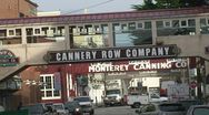 Stock Video Footage of CA Montery Cannary Row Street 1