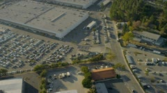 Aerial view of commercial development, USA Stock Footage