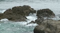 CA Montery Waves on Rocks 1 Stock Footage