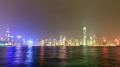 23 Skyscapers at Victoria's harbor - stock footage