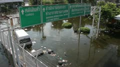 Don Mueang Floods file 1071 Stock Footage