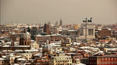 Rome under the snow - Skyline Stock Footage