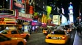 New York City, Manhattan, Times Square Footage