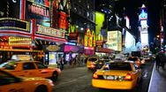 New York City, Manhattan, Times Square Stock Footage