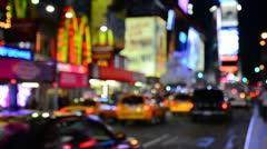 New York City, Manhattan, Times Square (defocussed) Stock Footage