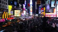 New York City, Manhattan, Times Square Stock Footage
