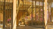 Stock Video Footage of circus tiger in cage excretes scent from glands