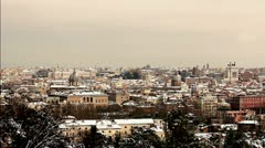 Rome under the snow - Skyline Stock Footage