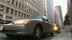 Downtown Inner City Traffic Stock Footage